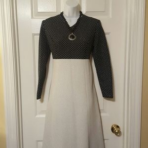 Sparkling Black White Silver Holiday Hostess Dress